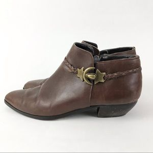Seychelles Vintage 10 Booties Boots Brown Leather Stars Moon Celestial